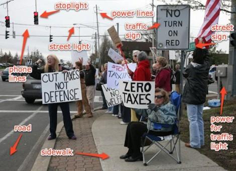 Ironic American Protestors