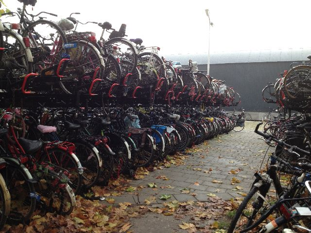 Dutch bike parking