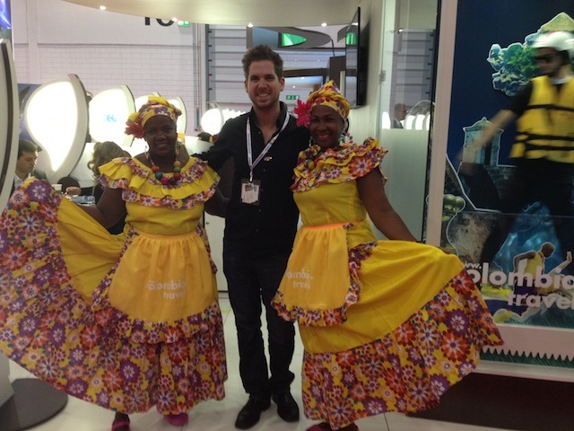 the Colombian stand at WTM