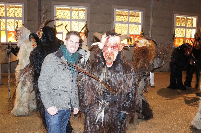 blogger with krampus