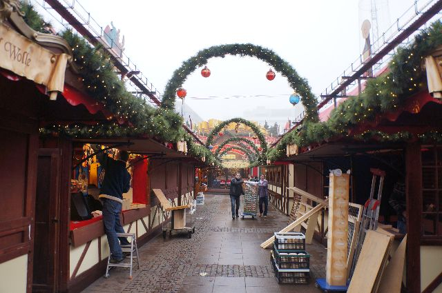christmas market booths