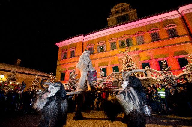 krampus show in hellbrunn austria