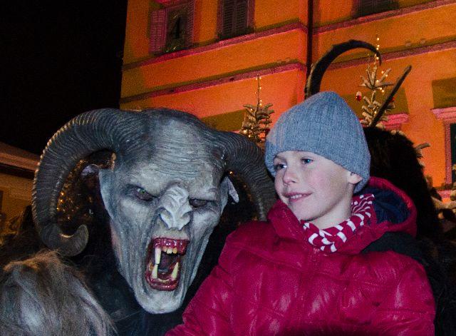 krampus with child