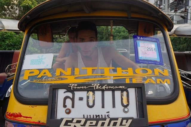 reality cast in a tuk tuk